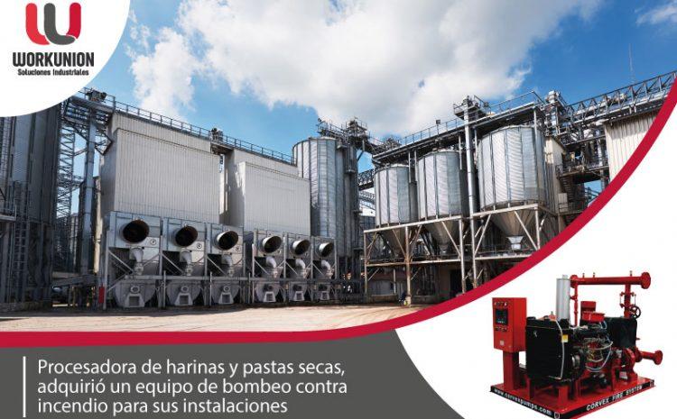 Procesadora de harinas y pastas secas, adquirió un equipo de bombeo contra incendio para sus instalaciones